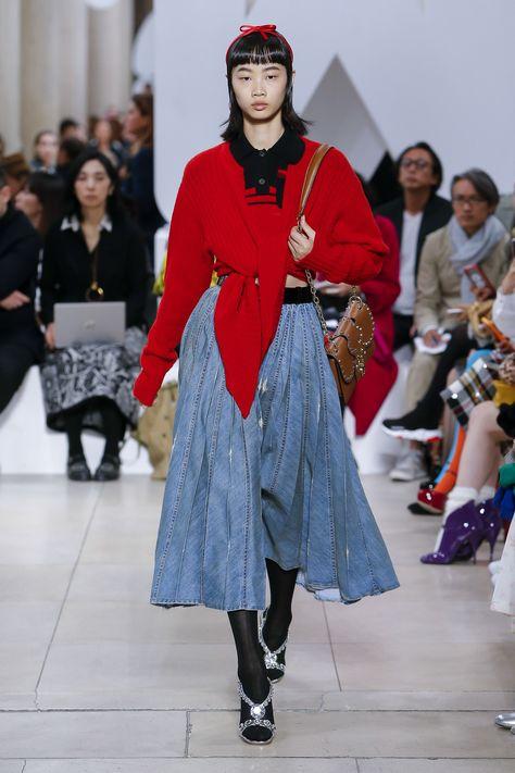 b368c325f029c Miu Miu Spring 2019 Ready-to-Wear Fashion Show Collection  See the complete Miu  Miu Spring 2019 Ready-to-Wear collection. Look 42