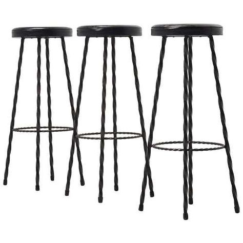 French Country Bar Stools Swivel Wrought Iron Kitchen