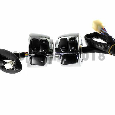 Motorcycle Handlebar Control Switch Housing Wires Harness Fit For Harley Chrome Motorcycle Handlebar Handlebar Motorcycle Parts And Accessories
