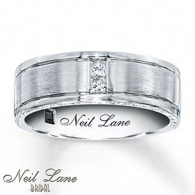 Jared S Wedding Ring We Can T Wait Squareweddingring Mens Diamond Band Neil Lane Wedding Bands Square Diamond Rings