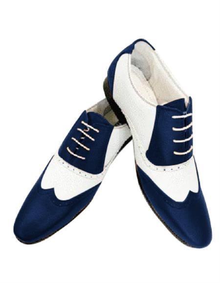 Navy blue shoes, Leather shoes men