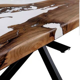 Ours Is A Love Story Walnut Tree White Epoxy Table Epoxy