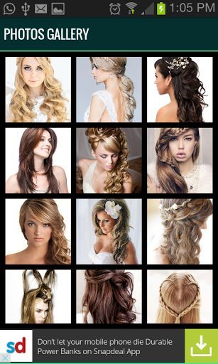 Hairstyle Video Tutorials Get Many Different Types Of Hairstyling In One App There Types Of Hairs Hair Videos Hair Styles Wedding Hairstyles Half Up Half Down