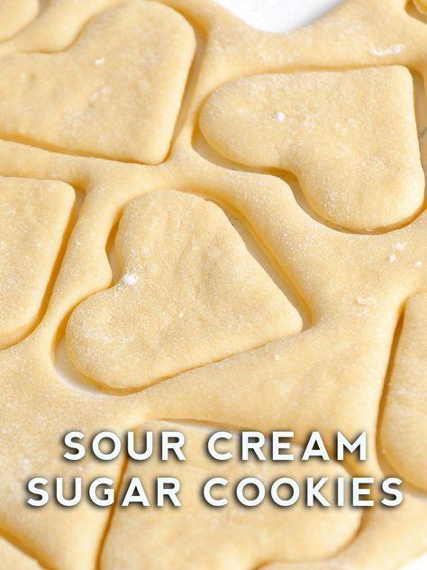 Sour Cream Sugar Cookies Recipe Sour Cream Sugar Cookies Cookies Recipes Christmas Cookies