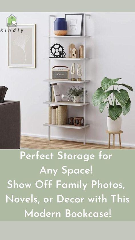 Modern Style 5-Tier Bookshelf