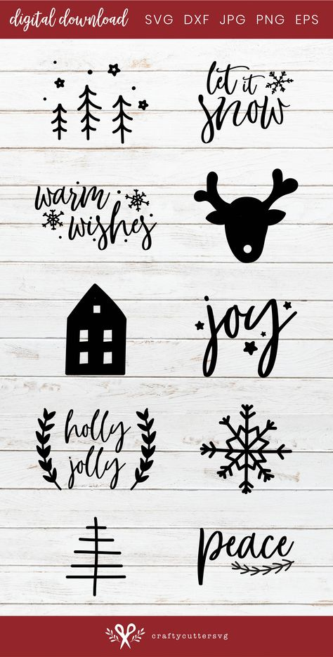 Cricut fun Christmas Decoration Bundle - SVG files for your Cricut or Silhouette Cameo cutting machi Cricut Christmas Ideas, Merry Christmas, Christmas Mugs, Christmas Baubles, Christmas Projects, Holiday Crafts, Christmas Decorations, Christmas Decals, Christmas Trees