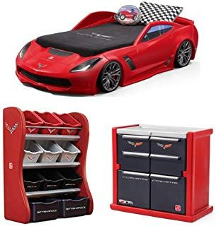 Step2 Corvette Z06 Convertible Toddler To Twin Bed With Lights Step2 Corvette Room Organizer Step2 Corvette Tool Chest Dres Kid Beds Kids Dressers Bed Lights