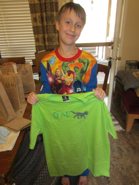 Grandson made t-shirt for his dad.
