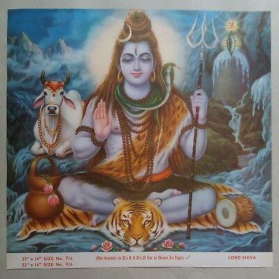 India Mythological Hindu Gods Old Large Print Shiva Vishpan B 458 45 00 Picclick Hindu Gods Mythology Art Baba vadbhag singh ji hd wallpaper