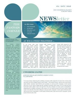 Mission Update Newsletter Template | Newsletter Templates