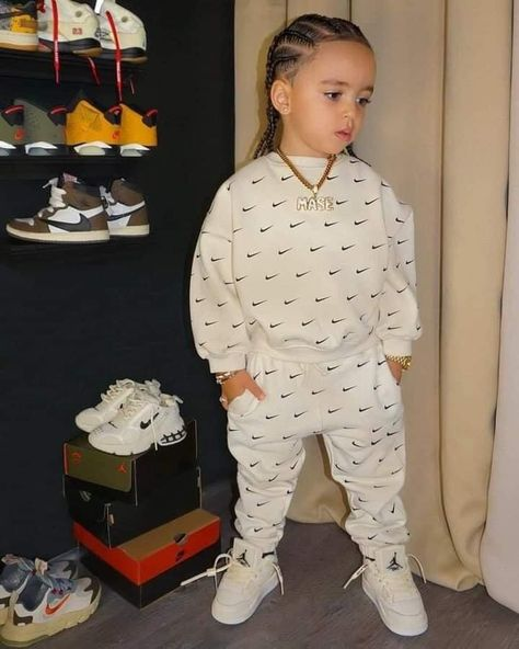 Toddler Boy Fashion, Cute Kids Fashion, Baby Girl Fashion, Toddler Outfits, Black Baby Boys, Cute Black Babies, Baby Boy Swag, Cute Baby Girl, Cute Mixed Babies