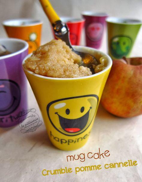 Il était une fois la pâtisserie...: Mug cake crumble aux pommes et cannelle