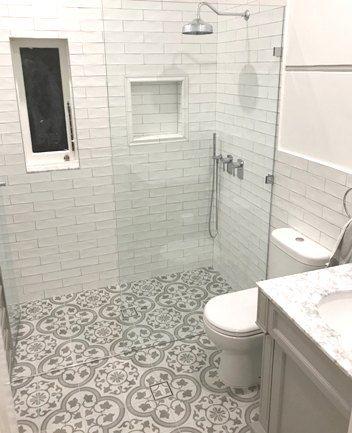 Black And White Floor Tiles Sydney Australia Kitchen Bathroom Tiling White Tile Floor Tile Bathroom Cuban Tile Bathroom