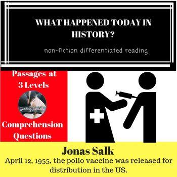 Jonas Salk Differentiated Reading Comprehension Passage April 12