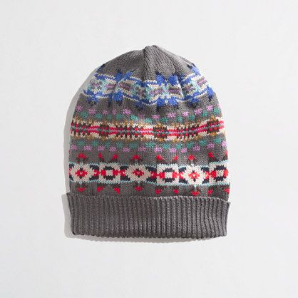 Factory Fair Isle stripe hat | Wish List | Pinterest | Fair isles ...