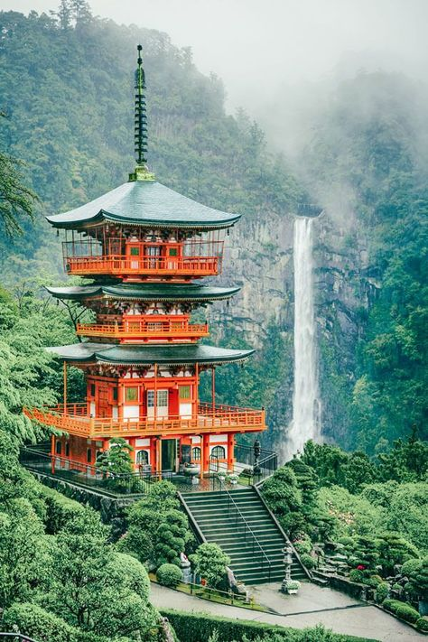 Beautiful Places That Belong on your Japan Bucket List Nachi Falls - the tallest waterfall in Japan.and the most beautiful! The Most Beautiful Places You Have to Add to your Japan Bucket List. Check out these incredible places in Japan on Beautiful Places In Japan, Beautiful Places To Visit, Cool Places To Visit, Places To Go, Beautiful Beautiful, Beautiful Things, Beautiful Sites, Wonderful Places, Japan Places To Visit