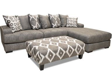 Beautiful Oversized Two Piece Sectional In A Soft Woven Textured