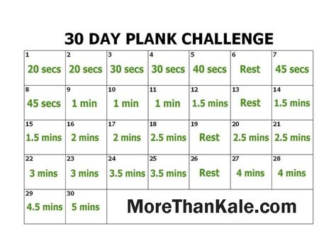 photo regarding Printable 30 Day Plank Challenge named Pinterest