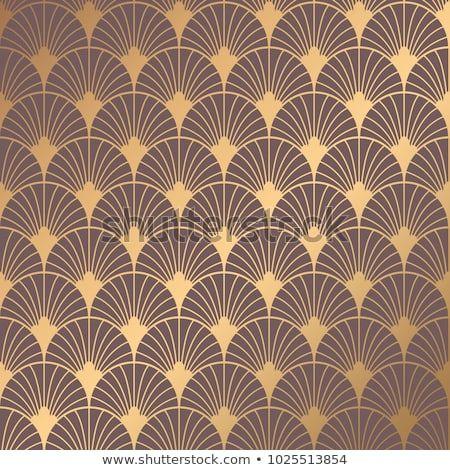 GOLD MODERN ART DECO FAN WALLPAPER BLACK RASCH 433210 NEW