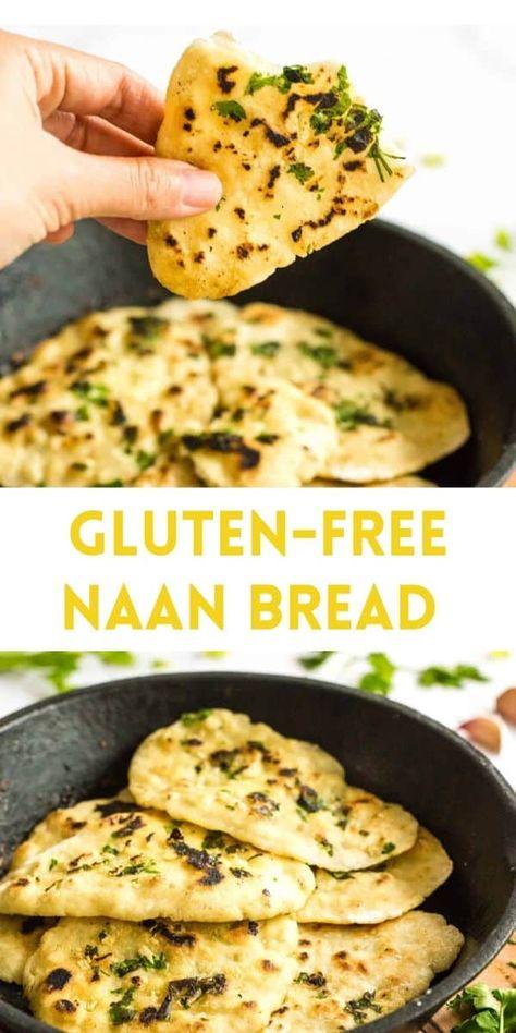 Gluten Free Bread Recipe Easy, Recipes With Naan Bread, Gluten Free Recipes For Dinner, Gluten Free Cooking, Dairy Free Recipes, Vegan Gluten Free, Easy Gluten Free Recipes, Wheat Free Recipes, Eating Gluten Free