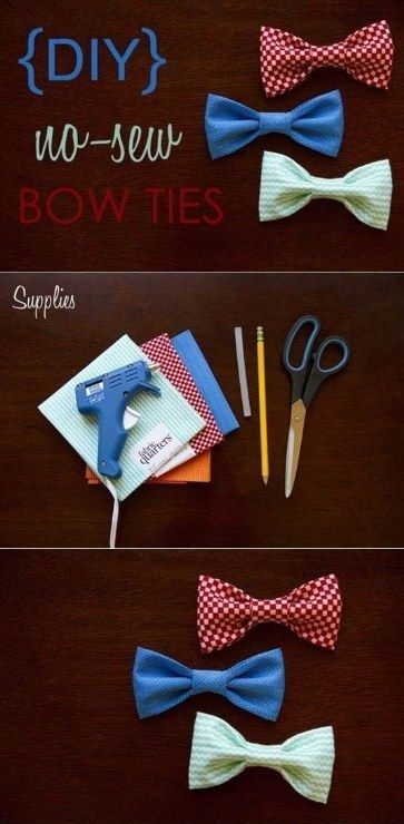 Who doesn't love a colorful bowtie?   41 Awesomely Easy No-Sew DIY Clothing Hacks