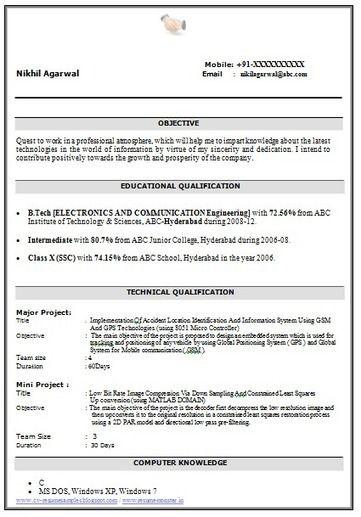 65 Beautiful Photos Of Resume Samples For Mba Freshers Free Download Good Resume Examples Resume Examples Sample Resume Format