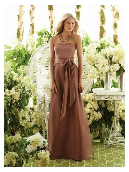 Long Brown Dresses Home Wedding Party Bridesmaid Guest Stuff To Pinterest Dress