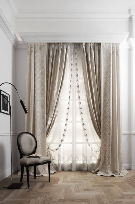 How To Hang Double Curtain Rods In 2020 Luxury Curtains Home Curtains Classic Curtains