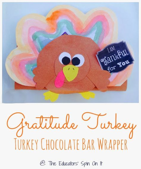 Handmade Turkey Chocolate Bar Wrappers  by The Educators' Spin On It