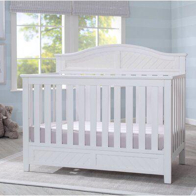 Delta Children Bennington Elite Curved 3 In 1 Convertible Crib Wayfair Cribs Convertible Crib Convertible Crib White