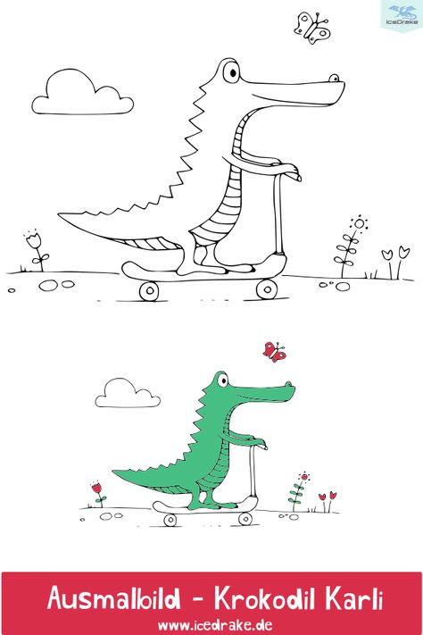 Ausmalbilder Tiere Mit Krokodil Karli Ausmalbilder Kinder Ausmalbilder Tiere Und Ausmalbilder