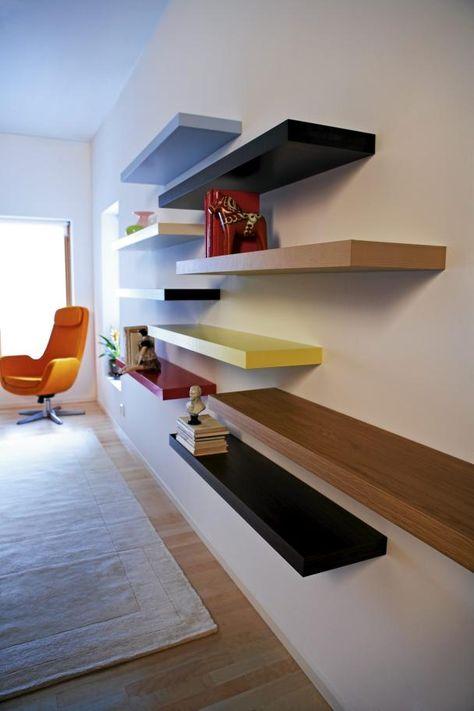 Much Storage Ikea Lack Floating Shelf Design