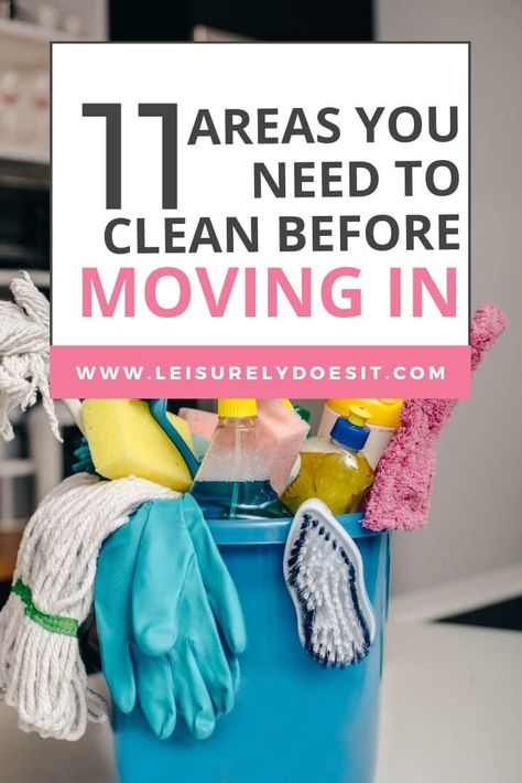 Have you recently bought a new home? Cleaning a new house before moving in is definitely recommended. Here's what to clean and simple tips for how to do it. #newhouse #cleaningtips #ldi via @Leisurely Does It