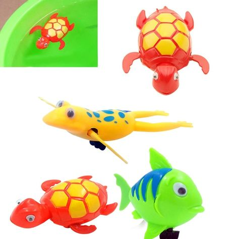 Wind-up Swimming Turtle Animal Toy Child Baby Kids Bath Time Clockwork Float