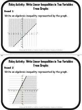 Write Linear Inequalities In Two Variables From Graphs Distance Learning Linear Inequalities Inequality Teaching Algebra