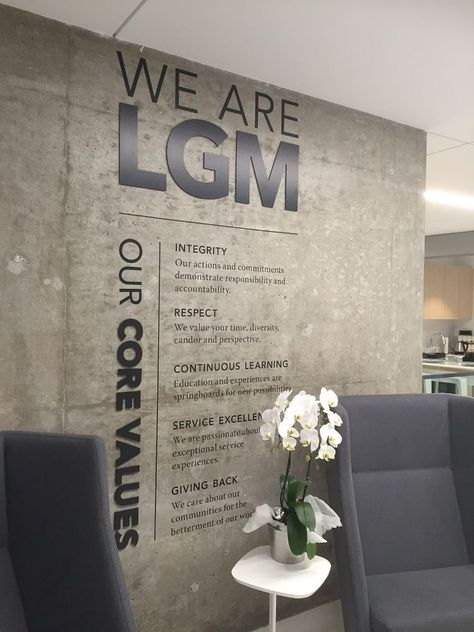 We are LGM-Core Values... - LGM Financial Services Office Photo | Glassdoor