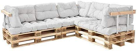 En Casa Canape D Angle En Palettes Coussin Beige Canape D Angle Avec Palettes Rembourrage Appui Amazon Fr Cuisine Maison Interior Design Home Decor