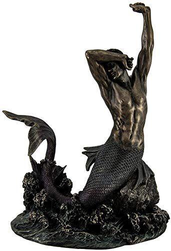Best Seller Merman Stretching Rock Sculpture Online Pptoplike In 2020 Merman Rock Sculpture Statue