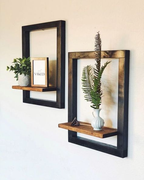 Decor, Redo Furniture, Diy Furniture Redo, Living Room Decor, Diy Pots, Home Decor, Modern Floating Shelves, Diy Wall, Bedroom Decor
