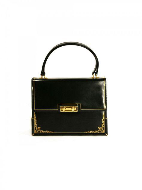 so lady like... 1950 s lampron leather handbag.  afe818c9acbcb