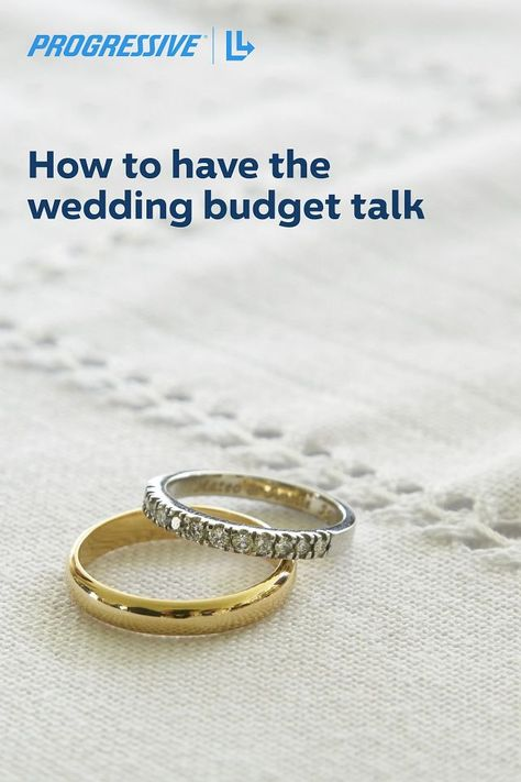 Have the wedding budget talk without all the awkwardness. #ProgressiveInsurance #WeddingBudget #WeddingBudgetBreakdown #WeddingTips #WeddingPlanning