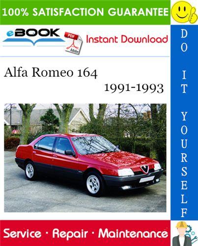 Alfa Romeo 164 Service Repair Manual 1991 1993 Download Repair Manuals Repair Romeo