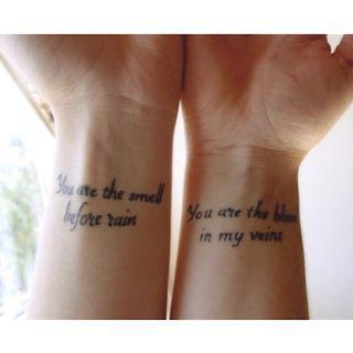 23 Tatuajes en pareja frases