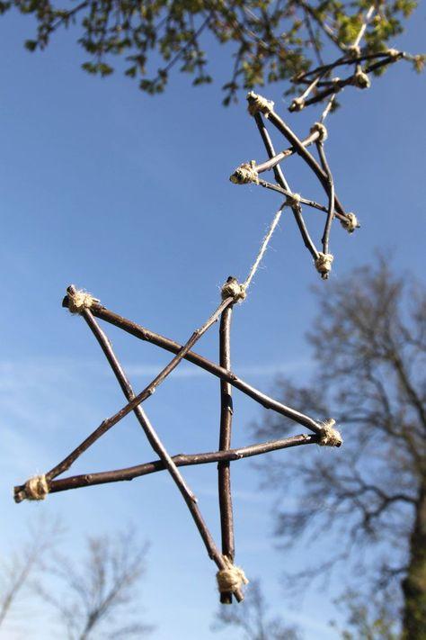 Windspiel aus Ästen #twigcrafts Windspiel aus Ästen