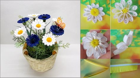 Image result for paper quilling daisy flowers fra