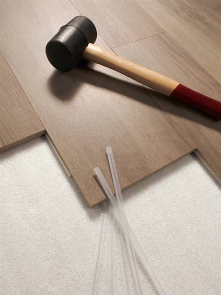 These edge-grooved tiles are held together with plastic splines, so they can be installed over existing floors without thinset or grout. That makes installation cheaper and about one-third faster than with regular tile—and you can walk on it as soon as you're finished. From $9 per square foot; Del Conca