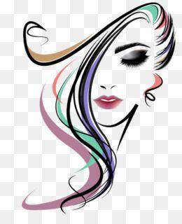 Peinado De Salon De Belleza De La Mujer Peluqueriadescargar Libre 822 972 427 22 Kb Imagen Png I Beauty Salon Logo Whimsical Art Paintings Hair Salon Art