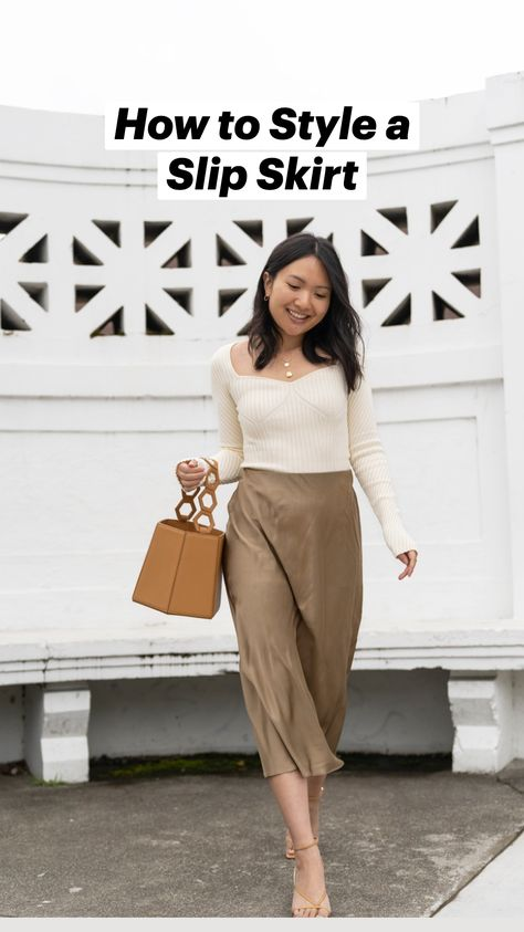 How to Style a Slip Skirt