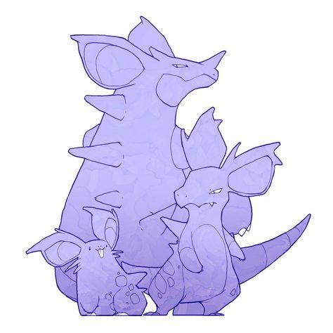 Nidoran, Nidorina, and Nidoqueen pokemon Pinterest Pokémon