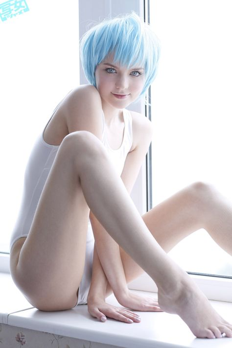 Rei Ayanami +Sexy+Cosplay #reiayanami nice and simple.. feeling white and sky blue!
